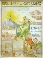 Poster-manifesto-affiche Reproduction - Distillerie Du Montbart Absinthes Supérieures P.Beucler á Bart - Doubs - Publicité