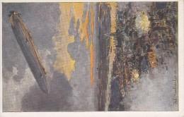 Zeppelin Uber Antwerpen, Eckenbrecher (05707) - Guerre 1914-18