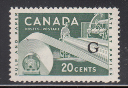 Canada MNH Scott #O45a Flying G Overprint On 20c Paper Industry - Officials