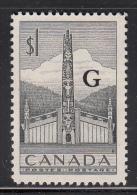 Canada MNH Scott #O32 G Overprint On $1 Totem Pole - Officials