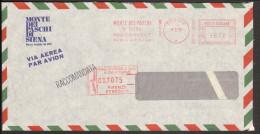 Italien Luftpost-Einschreibebrief  D.Banca Monte D.Paschi Firenze V.1978 Mit R-Stempel Und Freistempel N.Deutschland - Affrancature Meccaniche Rosse (EMA)