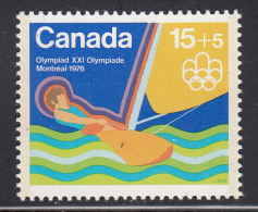 Canada MNH Scott #B6 15 + 5c Sailing - Water Sports - 1976 Summer Olympics Montreal - Unused Stamps