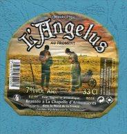 Etiquette Bière L'ANGELUS Au Froment - La Chapelle D'Armentières - Beer