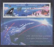 Chile 1990 Antarctica / Penguins / Whale M/s ** Mnh (23288B) - Chili