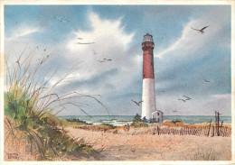 Etats-Unis - Phares - Phare - Illustrateur Edith Berry - New Jersey - Long Beach Island - Barnegat  Light Built 1858 - Etats-Unis