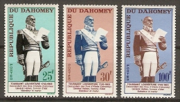 DAHOMEY.  1963.  Y&T N° 199 à 201 **.  -  . Toussaint - Louverture,  Héros Häitien. - Bénin – Dahomey (1960-...)