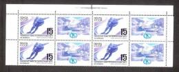 Sport 1988 USSR MNH Stamp In Block Of 4 Mi 5806 Zf  World Speed Skating Championships - Skateboard