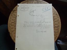 Facture  1908 Hersin Coupigny Carre Caulet Brasserie Vin - 1900 – 1949
