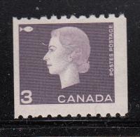 Canada MH Scott #409 5c Elizabeth II Cameo Issue Coil Single - Neufs