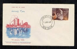 India 1965 FDC First Day Cover Jamsetji Tata (Y282) - FDC