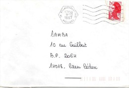 "1987 -  Oblitération Agence Postale ""VILLACOUBLAY - AIR""  Usage Très Tardif De Ce TD - Sellado Mecánica (Otros)"