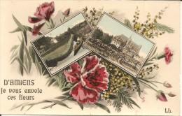 80000 AMIENS - D' AMIENS JE VOUS ENVOIE CES FLEURS - Amiens