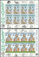 Lesotho,  Scott 2018 # 505, 507  Issued 1985,  2 Sheet Of 8,  MNH,  Cat $ 37.20,  Disney - Lesotho (1966-...)
