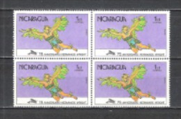 Nicaragua 1978 Transport Verkehr Luftfahrt Flugzeuge Aeroplanes Motorflug Brüder Wright Mythologie Ikarus, Mi. 2044 ** - Nicaragua