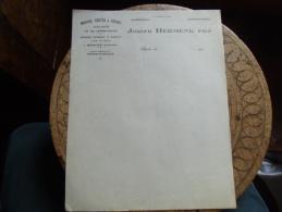 Facture  Morue Verte Et Seche Secherie Hermenk Begles - 1900 – 1949
