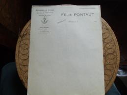 Facture  Secherie Morue Felix Pontaut Bordeaux - France