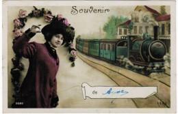 CPA Souvenir, AERO, Train, Trein   (pk21250) - Autres