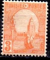 TUNISIA 1906 Mosque At Kairouan  -  3c  - Red  MH - Tunisie (1888-1955)