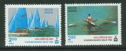India // Inde // 1982 Timbres Neufs / Y & T 742-743** Aviron Et Yachting - Inde