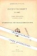 Original Patent - Carl Hohagen In Sundwig Bei Iserlohn , 1880 , Spannfutter Für Werkzeugmaschinen , Werkzeug , Metall !! - Historische Dokumente