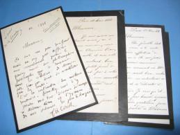 1 LETTRE AUTOGRAPHE SIGNEE + 2 LS DE FRANCISQUE DE CORCELLE 1882 DEPUTE ORNE NORD CARBONARI TOCQUEVILLE à A. SALOMON - Autographes