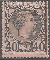 MONACO - 1885 40c Prince Charles III. Scott 7. Mint Hinged * - Neufs