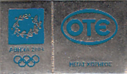 GREECE - OTE Grand Sponsor Of Athens 2004 Olympics(001), Unused - Jeux Olympiques