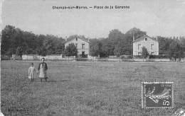 """CHAMPS SUR MARNE 77 - Place De La Garenne - CPA  """" Vernie """" - Seine Et Marne - Other Municipalities"""