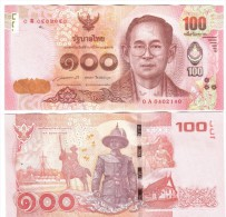 TAILANDIA THAILAND-SIAM 100 BAHT New Nuvo  Lotto.856 - Tailandia