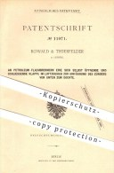 Original Patent - Rowald & Thierfelder In Leipzig , Petroleum - Flachbrenner , Brenner , Lampe , Laterne , Licht !!! - Historische Dokumente