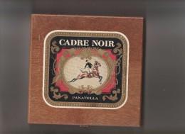 BOITE A 25 CIGARES  BOIS VIDE CADRE NOIR PANATELLA    TDA68 - Étuis à Cigares