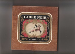 BOITE A 25 CIGARES  BOIS VIDE CADRE NOIR PANATELLA    TDA68 - Cigar Cases
