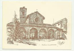 Montalcino La  Illustrata  Chiesa Dell'osservanza Non Viaggiata F.g. - Siena