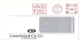 """Freistempel   """"tabella - Die Marke Für Modische Heimtextilien, Lauterburg, Langnau  Emmental""""             1978 - Affranchissements Mécaniques"""