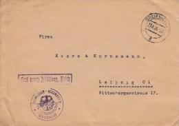 Brief Portfrei, Infanterie-Regiment 5, Zahlmeisterverwaltung, III Bataillon, Greifswald Naar Leipzig (05741) - Duitsland