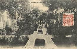 - Ref -H87 - Maroc- Le Maroc Illustre -  Rabat - Jardin - Interieur De Riche Maison Mauresque -  Carte Bon Etat - - Rabat