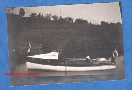 Photo ancienne - DINAN ? ou environs - Beau Yacht sur la Rance - 1913 - Cotes d'Armor - Yachting Club