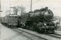 PHOTO TRAIN - 250715 - CFA 6.AE.2 - Locomotive Gare Chemin De Fer Cheminot - Stations With Trains