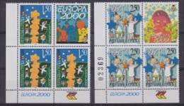 Europa Cept 2000 Bosnia/Herzegovina Serbia 2v (bl Of 4, 3 Sets + Label) ** Mnh (23300) - Europa-CEPT