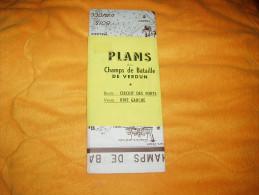 PLANS DES CHAMPS DE BATAILLE DE VERDUN DATE ?. / RECTO : CIRCUIT DES FORTS / VERSO : RIVE GAUCHE. - Cartes