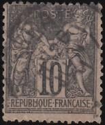 FRANCE - Scott #68 Peace & Commerce / Used Stamp - 1876-1878 Sage (Type I)