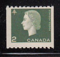 Canada MNH Scott #406 2c Elizabeth II Cameo Issue Coil Single - 1952-.... Règne D'Elizabeth II