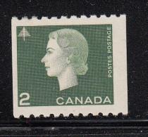 Canada MH Scott #406 2c Elizabeth II Cameo Issue Coil Single - 1952-.... Règne D'Elizabeth II