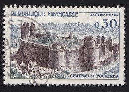 FRANCE - Scott #944 Fougères Château (*) / Used Stamp - Castelli