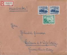 DR R-Brief Mif Minr.2x 688,704 Dresden 3.4.40 - Briefe U. Dokumente