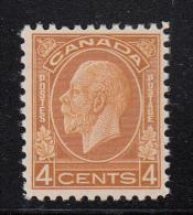 Canada MNH Scott #198 4c George V Medallion Issue - 1911-1935 Règne De George V