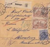 DR Paketkarte Mif Minr.87II,2x114,144 Meiningen 27.11.20 - Covers & Documents