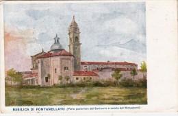 BASILICA DI FONTANELLATO-PARMA-PARTE POSTERIORE DEL SANTUARIO E VEDUTA DEL MONASTERO-ORIGINALE D´EPOCA 100% 2 SCAN. - Parma