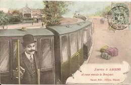 80000 AMIENS - J' ARRIVE A AMIENS Et VOUS ENVOIE LE BONJOUR En 1907 - Amiens