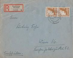 DR R-Brief Mif Minr.2x 533 Magdeburg 31.7.37 Gel. Nach Wien - Germany